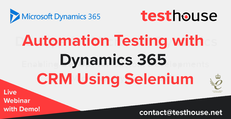 Automation Testing with Dynamics 365 CRM Using Selenium