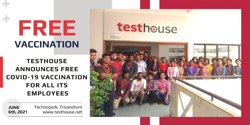 Testhouse Announces Free Covid-19 Vaccination for all its Employees