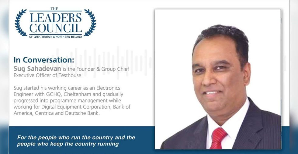 Sug Sahadevan from Testhouse appears in the Leaders Council podcast alongside Lord Blunkett